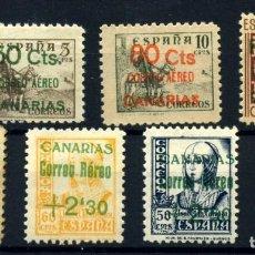Postales: ESPAÑA (CANARIAS) Nº 34/6, 40/3. AÑO 1937. Lote 260845070