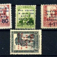 Postales: ESPAÑA (CANARIAS) Nº 14/17. AÑO 1937. Lote 260845190