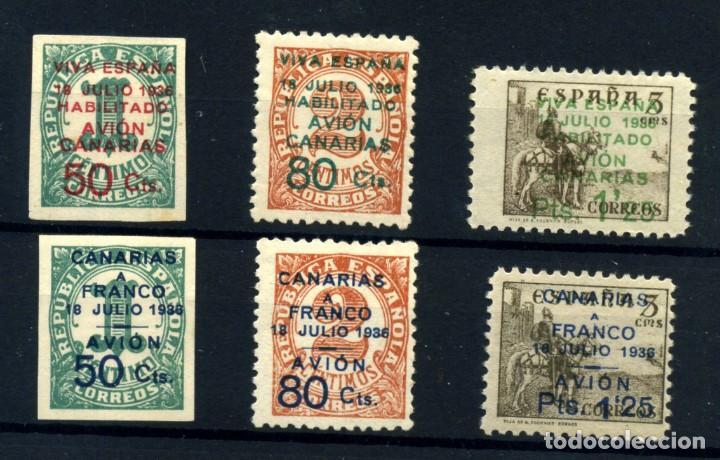 ESPAÑA (CANARIAS) Nº 8/13. AÑO 1937 (Postales - España - Canarias Moderna (desde 1940))