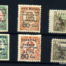 Postales: ESPAÑA (CANARIAS) Nº 8/13. AÑO 1937. Lote 260845280