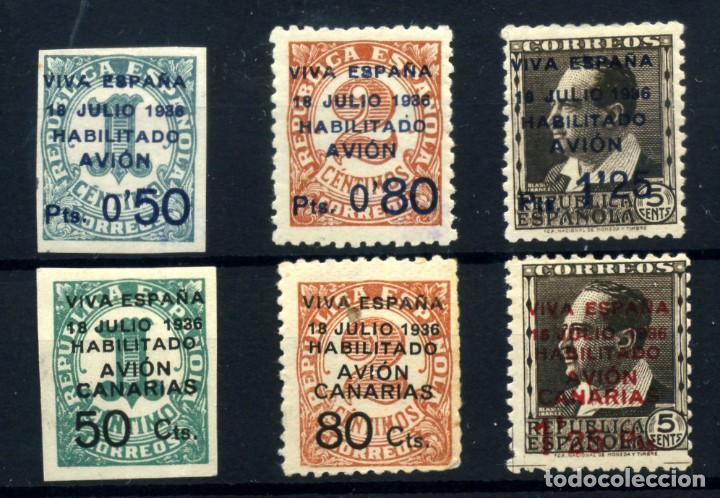 ESPAÑA (CANARIAS) Nº 1/6. AÑO 1936/37 (Postales - España - Canarias Moderna (desde 1940))