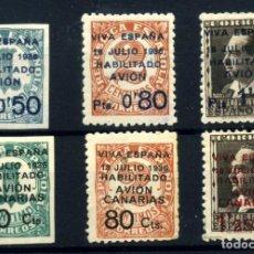 Postales: ESPAÑA (CANARIAS) Nº 1/6. AÑO 1936/37. Lote 260845420