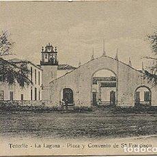 Postales: X125351 ISLAS CANARIAS TENERIFE LA LAGUNA PLAZA Y CONVENTO DE SN FRANCISCO. Lote 261173070