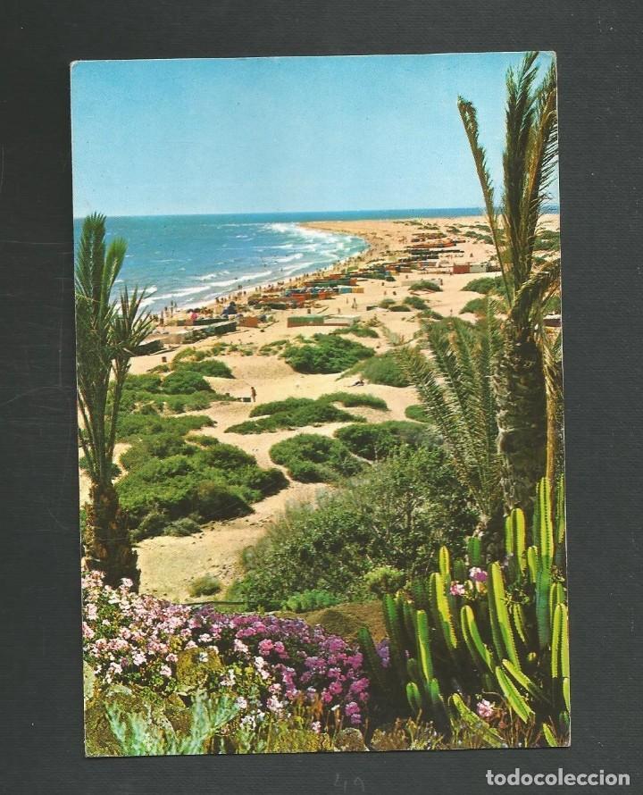 POSTAL CIRCULADA COSTA CANARIA 2064 PLAYA DEL INGLES EDITA BRITO (Postales - España - Canarias Moderna (desde 1940))