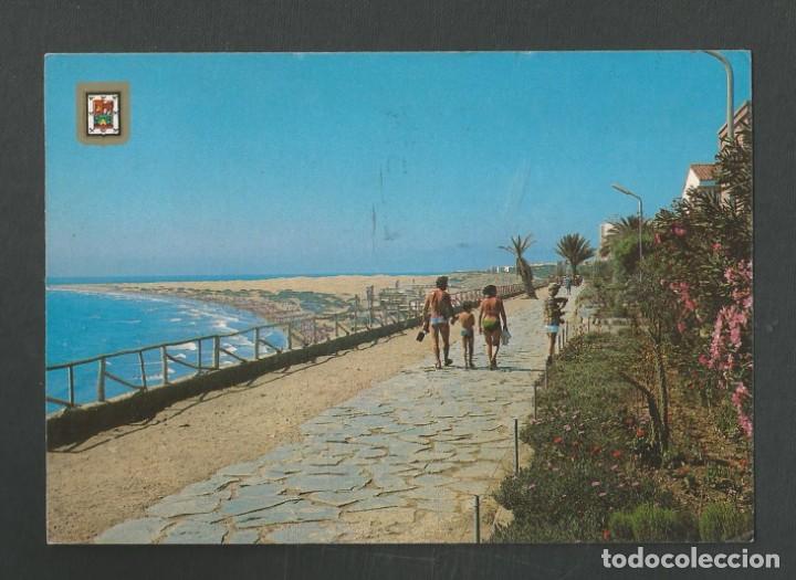 POSTAL CIRCULADA GRAN CANARIA 531 PLAYA DEL INGLES EDITA ESCUDO DE ORO (Postales - España - Canarias Moderna (desde 1940))