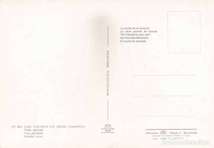 Postales: POSTAL VISTA PARCIAL. LAS PALMAS DE GRAN CANARIA (1967) - Foto 2 - 262108050