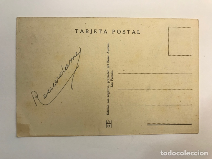 Postales: LAS PALMAS, Postal No.54, Jardín del Parque Municipal. Edic., Bazar Alemán (h.1940?) S/C - Foto 2 - 262134590