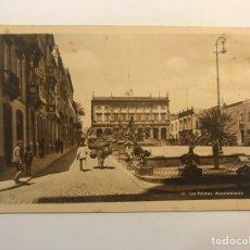 Postales: LAS PALMAS, POSTAL NO.81, AYUNTAMIENTO. EDIC., BAZAR ALEMÁN (H.1940?) S/C. Lote 262137990