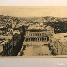 Postales: LAS PALMAS, POSTAL NO.80, VISTA PARCIAL Y AYUNTAMIENTO. EDIC., BAZAR ALEMÁN (H.1940?) S/C. Lote 262138440