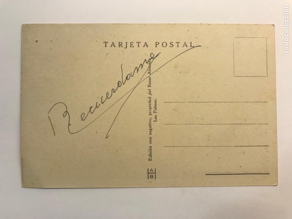 Postales: LAS PALMAS, Postal No.90, Vista de la Ciudad. Edic., Bazar Alemán (h.1940?) S/C - Foto 2 - 262138865