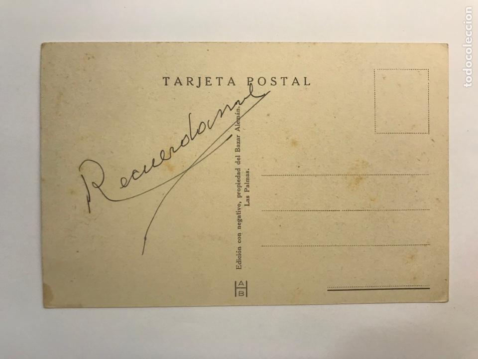 Postales: LAS PALMAS, Postal No.50, Parte Sur del Parque de San Telmo. Edic., Bazar Alemán (h.1940?) - Foto 2 - 262139340