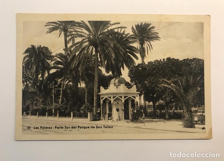 LAS PALMAS, POSTAL NO.50, PARTE SUR DEL PARQUE DE SAN TELMO. EDIC., BAZAR ALEMÁN (H.1940?) (Postales - España - Canarias Moderna (desde 1940))