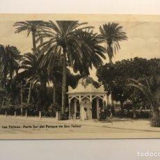 Postales: LAS PALMAS, POSTAL NO.50, PARTE SUR DEL PARQUE DE SAN TELMO. EDIC., BAZAR ALEMÁN (H.1940?). Lote 262139340