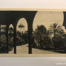 Postales: LAS PALMAS, POSTAL NO.55, PARQUE MUNICIPAL. EDIC., BAZAR ALEMÁN (H.1940?) S/C. Lote 262142350