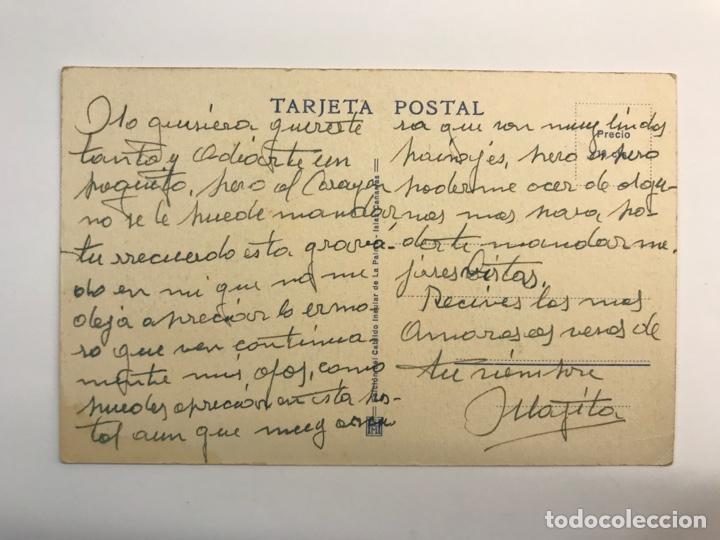 Postales: ISLA DE LA PALMA (Canarías) Postal Serie II, No.12, Barranco de Angustias. Vista desde el mar - Foto 2 - 262142965