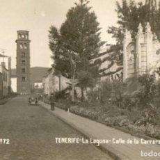 Postales: POSTAL ANTIGUA- TENERIFE -LA LAGUNA- CALLE DE LA CARRERA - SIN CIRCULAR Y DIVIDIDA. Lote 262898315