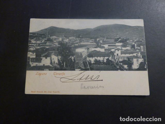LA LAGUNA TENERIFE ED. BAZAR FRANCES REVERSO SIN DIVIDIR (Postales - España - Canarias Antigua (hasta 1939))