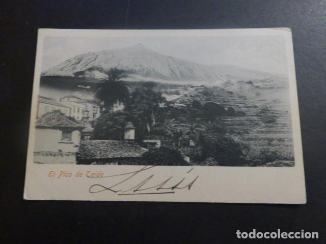 TENERIFE EL PICO TEIDE ED. SRTA PETRA SANJUAN REVERSO SIN DIVIDIR (Postales - España - Canarias Antigua (hasta 1939))