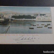 Postales: SANTA CRUZ DE TENERIFE VISTA DESDE LA BAHIA ED. A. J. BENITEZ TIPOGRAFO REVERSO SIN DIVIDIR. Lote 263629455