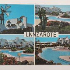 Postales: POSTAL LANZAROTE. APARTAMENTOS LOS MOLINOS. Lote 265540339