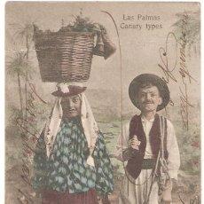 Postales: LAS PALMAS. CANARY TYPES.. Lote 265722409