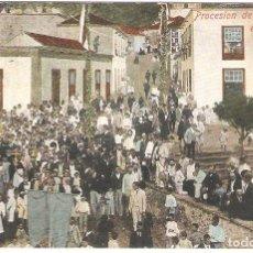 Postales: LA PALMA. PROCESIÓN DE SAN MIGUEL EN TAZACORTE.. Lote 265801769