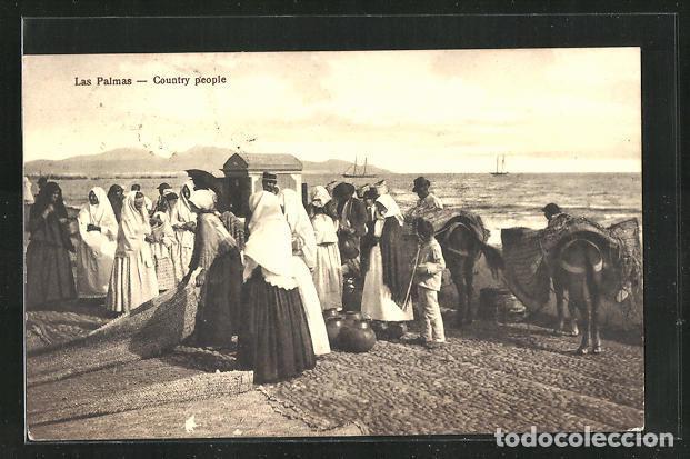 POSTAL DE ESPAÑA - LAS PALMAS, COUTRY PEOPLE (Postales - España - Canarias Antigua (hasta 1939))