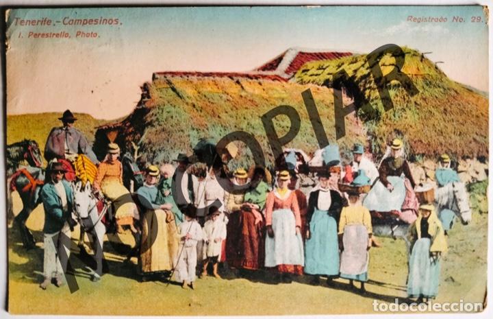 ANTIGUA POSTAL DE TENERIFE. CAMPESINOS. 1920. ESCRITA Y CIRCULADA. (Postales - España - Canarias Antigua (hasta 1939))