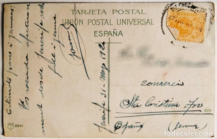 Postales: ANTIGUA POSTAL DE TENERIFE. CAMPESINOS. 1920. ESCRITA Y CIRCULADA. - Foto 2 - 266566003