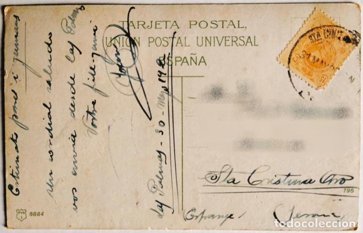 Postales: ANTIGUA POSTAL DE LAS PALMAS. PUERTO DE LA CRUZ. 1920. ESCRITA Y CIRCULADA. - Foto 2 - 266566233