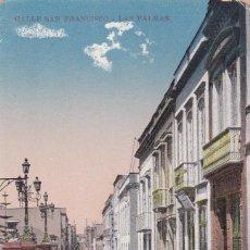 Postales: LAS PALMAS DE GRAN CANARIA, CALLE SAN FRANCISCO. NO CONSTA EDITOR. BYN COLOREADA. SIN CIRCULAR. Lote 267505074