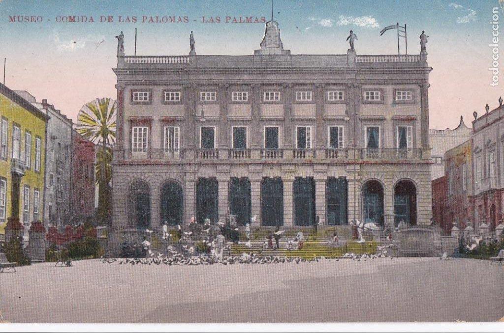 LAS PALMAS DE GRAN CANARIA, MUSEO COMIDA PALOMAS. NO CONSTA EDITOR. BYN COLOREADA. SIN CIRCULAR (Postales - España - Canarias Antigua (hasta 1939))