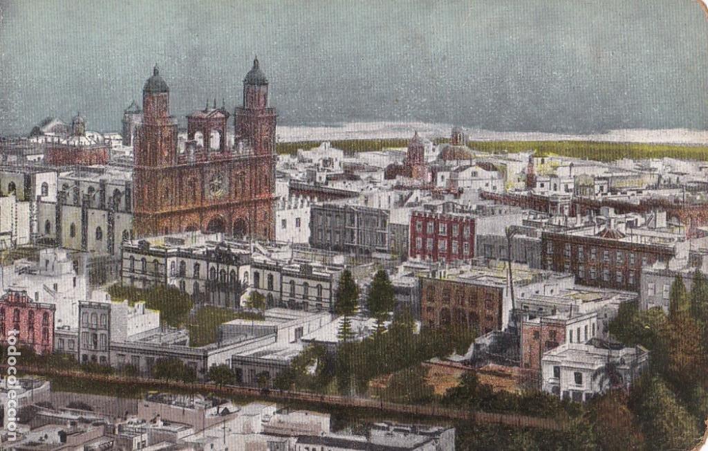LAS PALMAS DE GRAN CANARIA, VISTA PARCIAL. NO CONSTA EDITOR. BYN COLOREADA. SIN CIRCULAR (Postales - España - Canarias Antigua (hasta 1939))