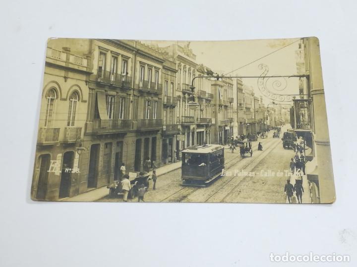 TARJETA POSTAL. FOTOGRÁFICA. LAS PALMAS. CALLE DE TRIANA. Nº 28. FB (Postales - España - Canarias Antigua (hasta 1939))