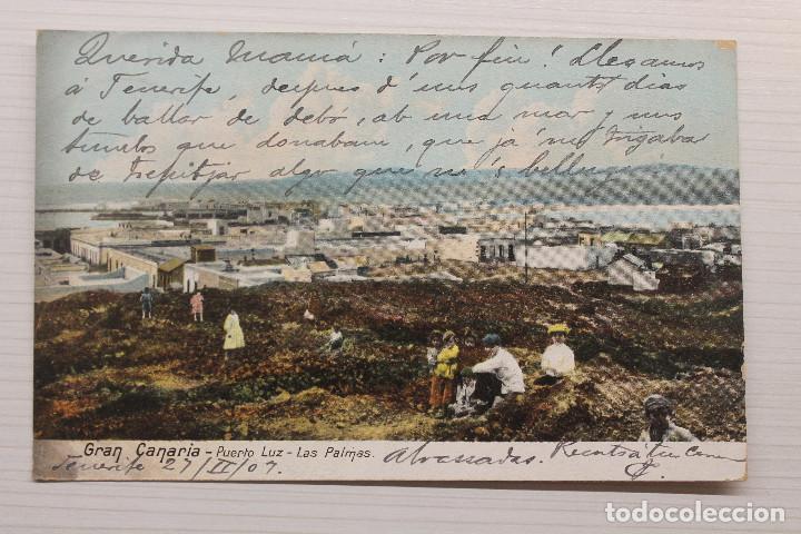 POSTAL GRAN CANARIA, PUERTO LUZ, LAS PALMAS, 1907 (Postales - España - Canarias Antigua (hasta 1939))