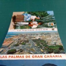 Postales: LAS PALMAS GRAN CANARIA POSTALES VINTAGE 12 LIBRETO COLISEVM ANTIGÜEDADES COLECCIONISMO LIBRERIA. Lote 268021774