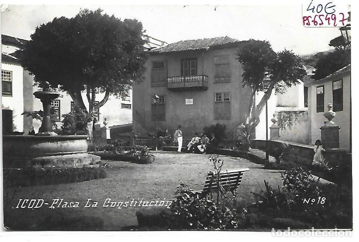 (PS-65497)POSTAL FOTOGRAFICA DE ICOD-PLASA LA CONSTITUCION (Postales - España - Canarias Antigua (hasta 1939))