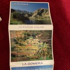 Postales: POSTALES RECUERDO DE LA GOMERA. 14 FOTOS. Lote 268901219