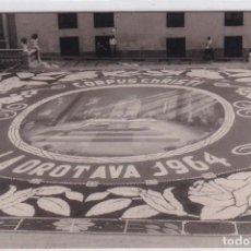 Postales: CORPUS CHRISTI LA ORATAVA 1964 FOTO BLANCO TENERIFE. FOTOGRAFÍA TAMAÑO POSTAL. SELLO DEL FOTÓGRAFO. Lote 269114903