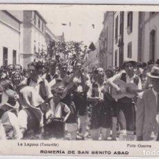 Postales: LA LAGUNA TENERIFE. ROMERÍA DE SAN BENITO ABAD. FOTO GUERRA.. Lote 269115063