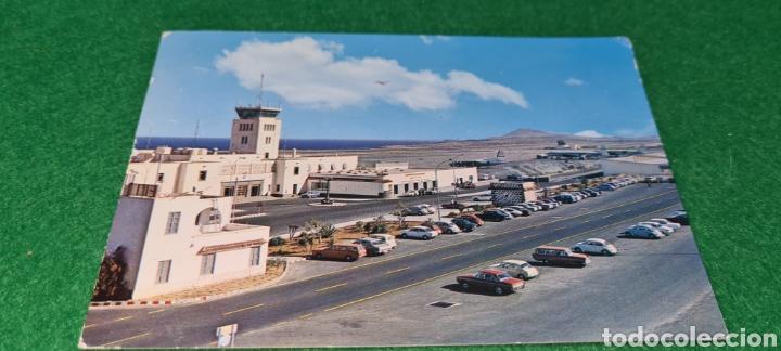 PRECIOSA POSTAL DE LA ISLA DE GRAN CANARIA AEROPUERTO DE LAS PALMAS. CIRCULADA. (Postales - España - Canarias Moderna (desde 1940))