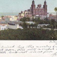 Postales: LAS PALMAS DE GRAN CANARIA. ED. FOTO J. PERESTRELLO. REVERSO SIN DIVIDIR. CIRCULADA. Lote 270141523
