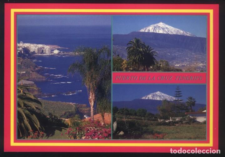 B-0270- ISLAS CANARIAS. TENERIFE. PUERTO DE LA CRUZ Y EL TEIDE. (Postales - España - Canarias Moderna (desde 1940))