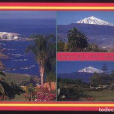 Postales: B-0270- ISLAS CANARIAS. TENERIFE. PUERTO DE LA CRUZ Y EL TEIDE.. Lote 270151178
