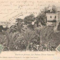 Postales: HUERTA DE PLATANOS- LAS PALMAS (GRAN CANARIA) C- 1903. Lote 270383998
