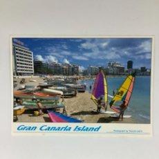 Postales: POSTAL LAS CANTERAS, GRAN CANARIA. TULLIO GATTI. OBSEQUIO FORTUNA. Lote 270971098