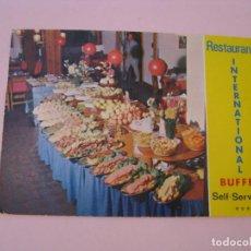 Postales: POSTAL DE RESTAURANT BUFFET INTERNATIONAL. LAS PALMAS DE GRAN CANARIAS. ED. ISLAS.. Lote 271396148