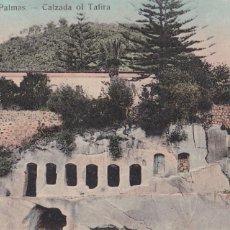 Postais: LAS PALMAS DE GRAN CANARIA CALZADA I TAFIRA. ED. FOTO BAZAR ALEMAN. BYN COLOREADA. SIN CIRCULAR. Lote 273511658