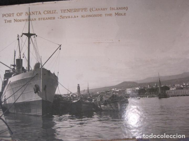 Postales: SANTA CRUZ DE TENERIFE-PUERTO-THE NORWEGIAN STEAMER SEVILLA-FOTOGRAFIA ANTIGUA-(82.594) - Foto 2 - 275314278