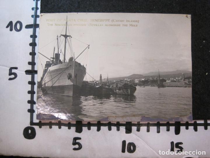Postales: SANTA CRUZ DE TENERIFE-PUERTO-THE NORWEGIAN STEAMER SEVILLA-FOTOGRAFIA ANTIGUA-(82.594) - Foto 5 - 275314278